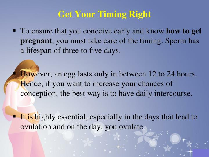 Get Your Timing Right