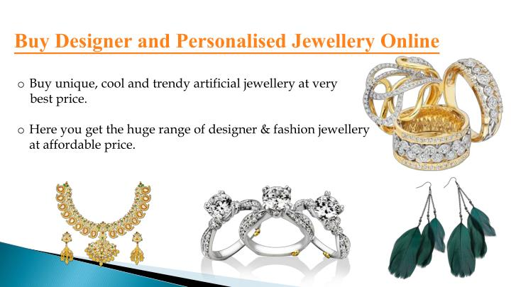 Buy Designer and Personalised Jewellery Online