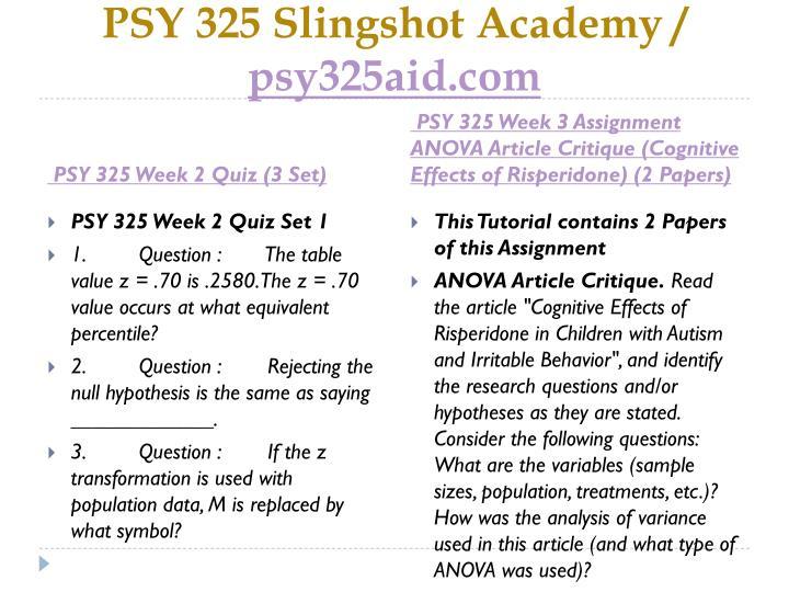 PSY 325