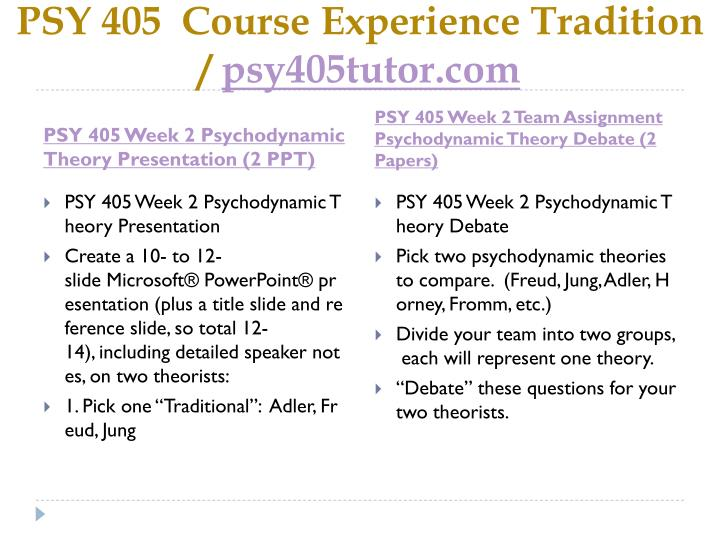 PSY 405  Course