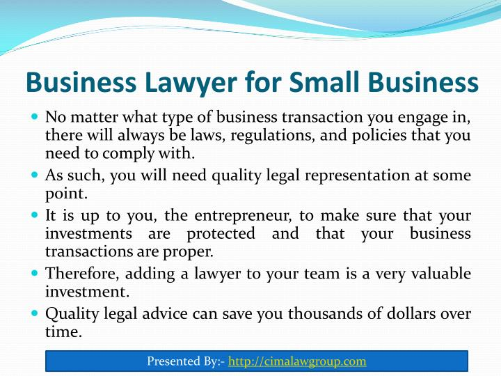 Business lawyer for small business