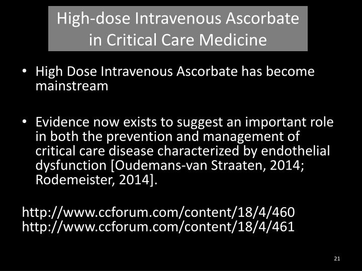 High-dose Intravenous Ascorbate