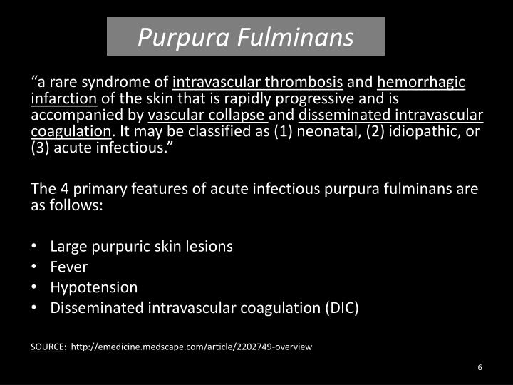 Purpura Fulminans