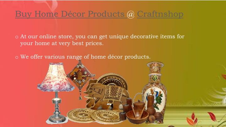 Buy Home Décor Products @ Craftnshop
