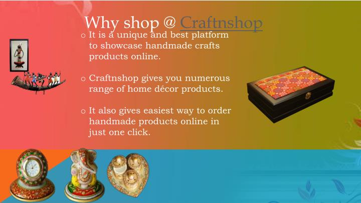Why shop @ Craftnshop