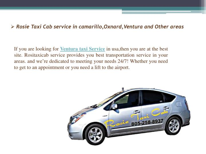 Rosie taxi cab service in camarillo oxnard ventura and other areas