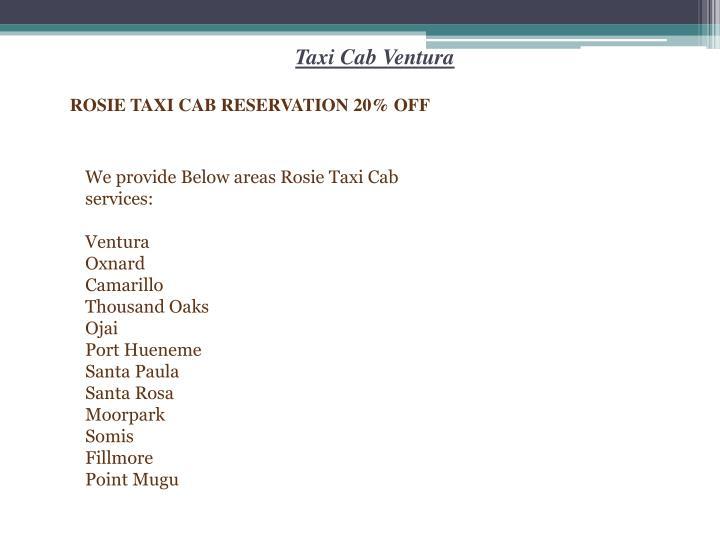 Taxi Cab Ventura