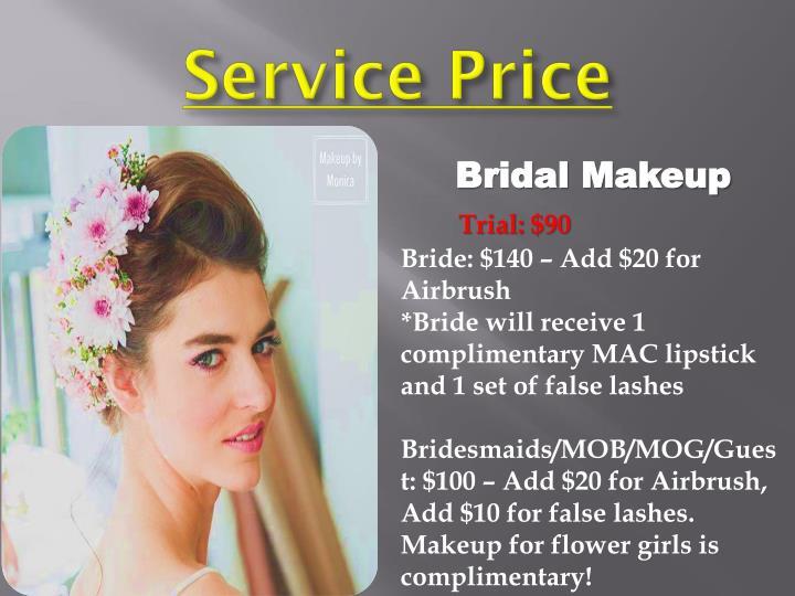 Service Price