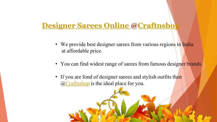 Designer Sarees Online @Craftnshop