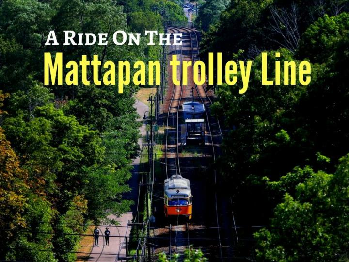 Going back in time on the mattapan trolley