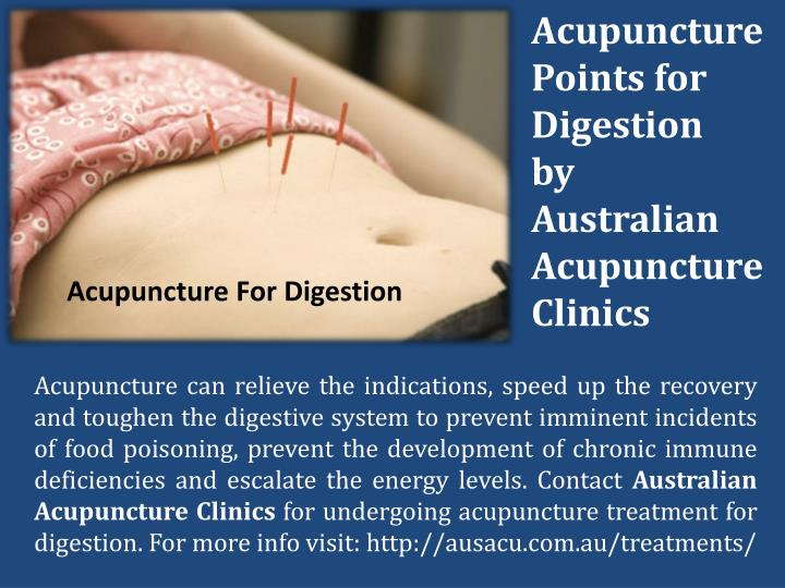 Acupuncture Points for Digestion