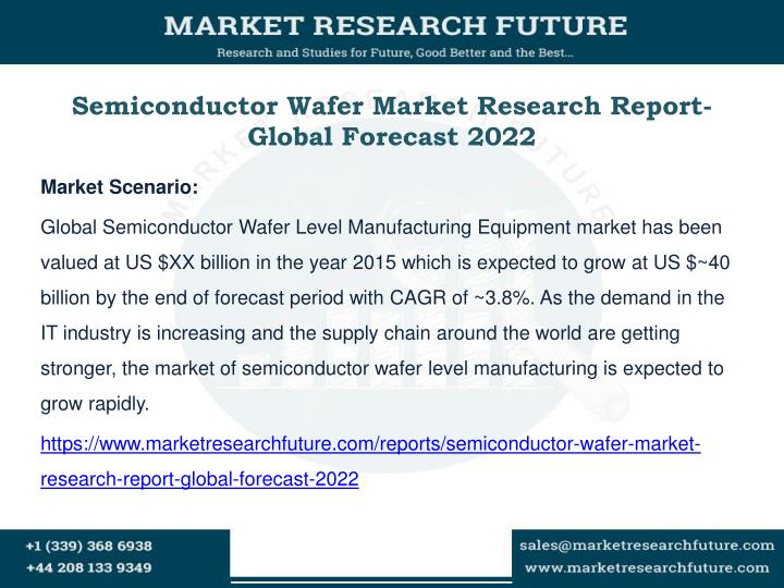 Semiconductor wafer market research report global forecast 2022