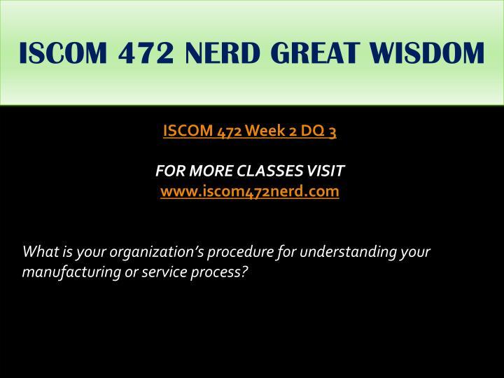 ISCOM 472 NERD GREAT WISDOM