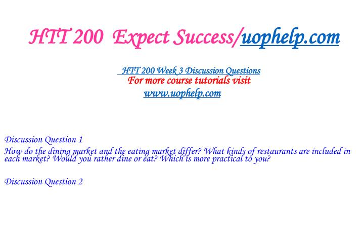 HTT 200  Expect Success/