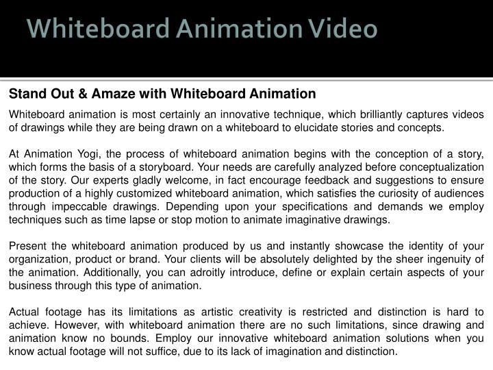 Whiteboard Animation Video