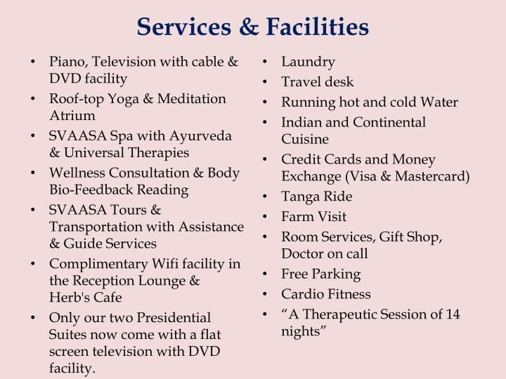 Services & Facilities