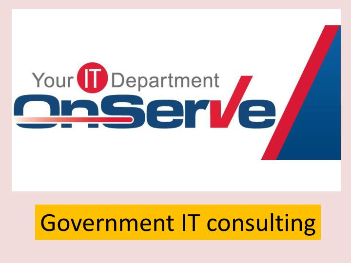 Government IT consulting