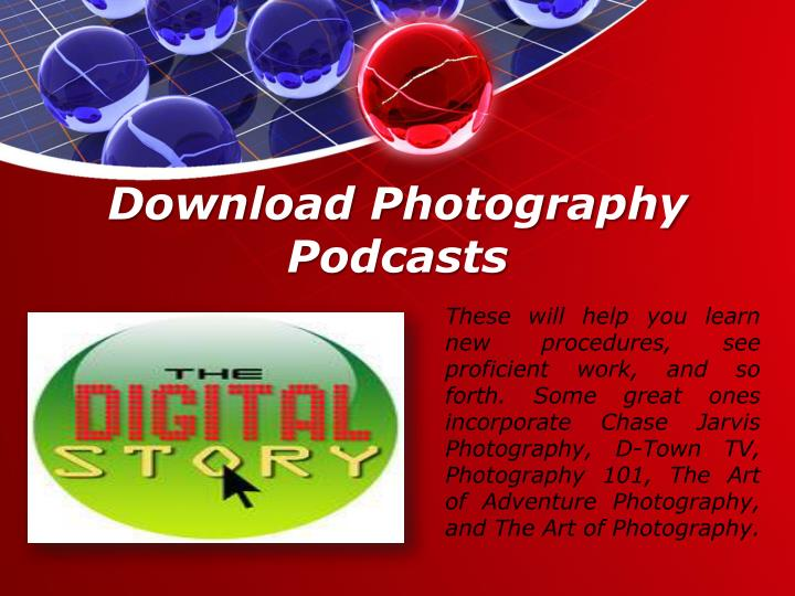 Download Photography Podcasts