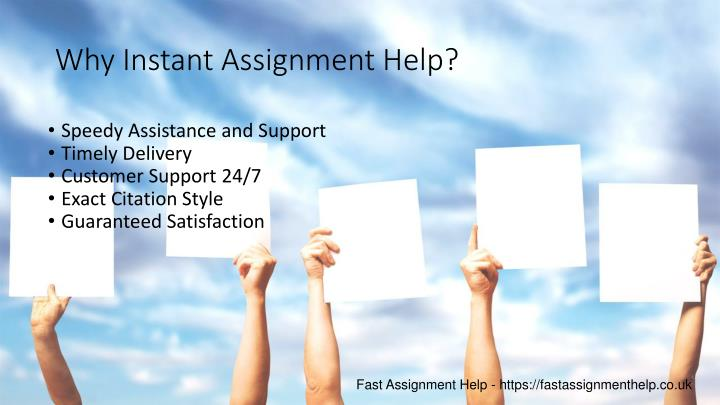 Why Instant Assignment Help?