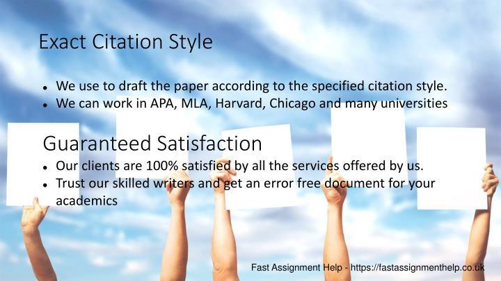 Exact Citation Style