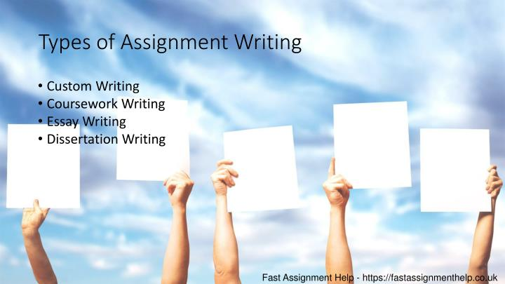 Types of Assignment Writing