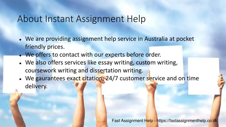 About Instant Assignment Help