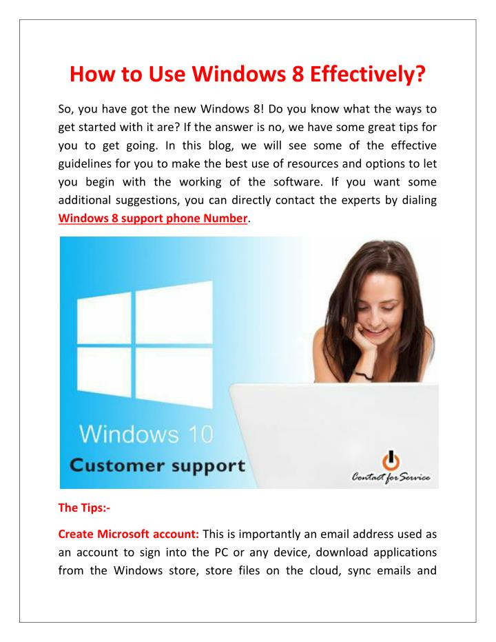 How to Use Windows 8 Effectively?