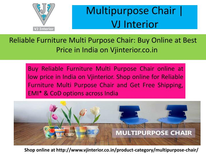 Multipurpose chair vj interior