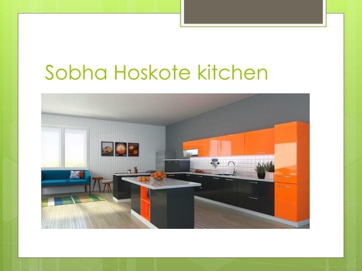 Sobha Hoskote kitchen