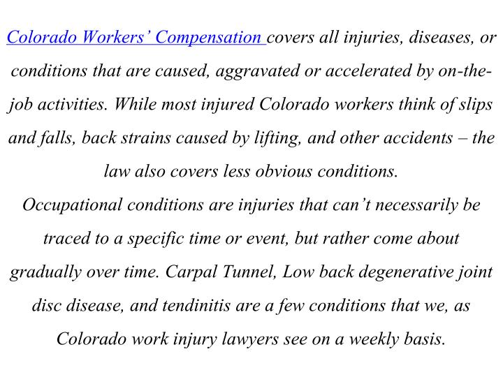 Colorado Workers' Compensation