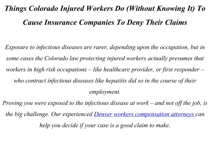 Things Colorado Injured Workers Do (Without Knowing It) To