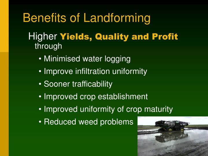 Benefits of Landforming