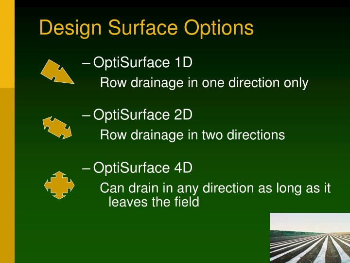 Design Surface Options