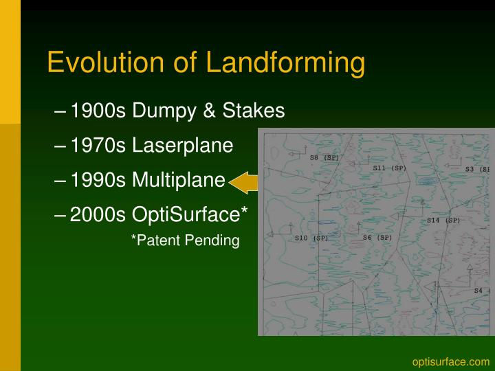 Evolution of Landforming