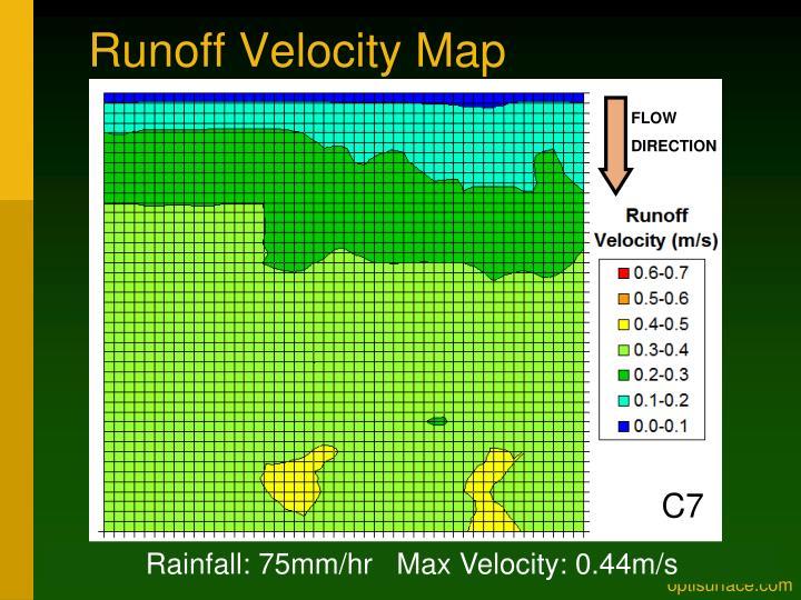 Runoff Velocity Map