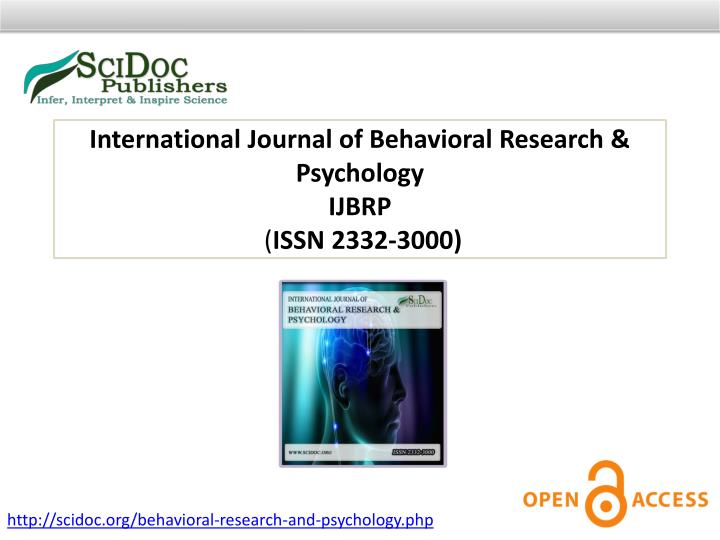 International Journal of Behavioral Research & Psychology