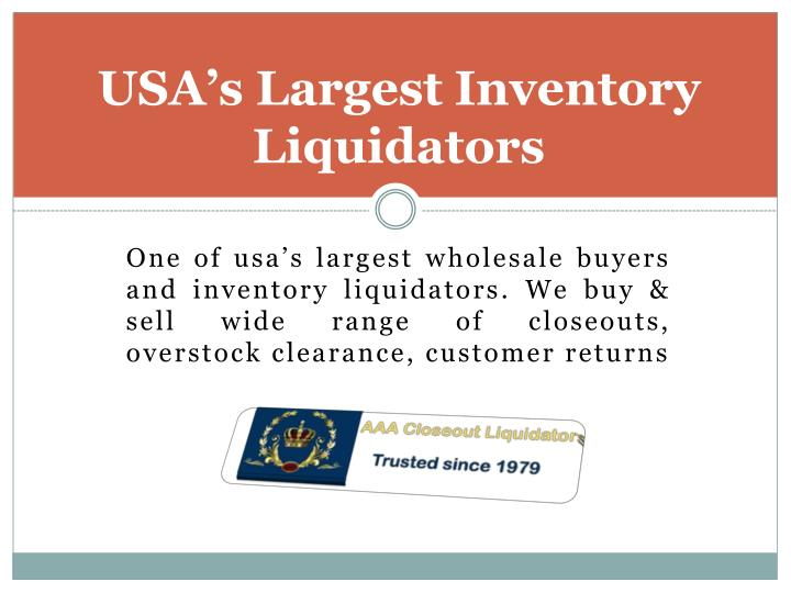 USA's Largest Inventory Liquidators