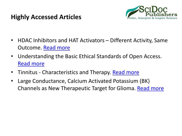 Highly Accessed Articles