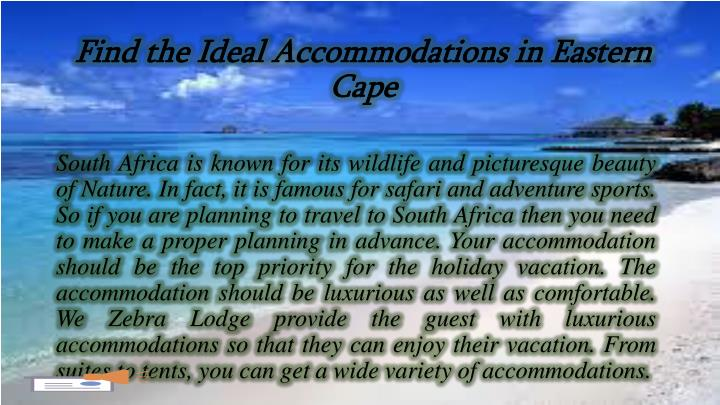 Find the Ideal Accommodations in Eastern Cape