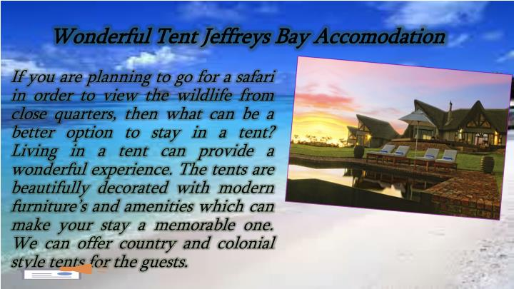 Wonderful Tent Jeffreys Bay Accomodation