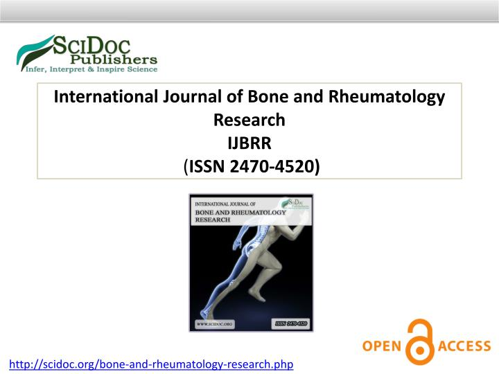 International Journal of Bone and Rheumatology Research