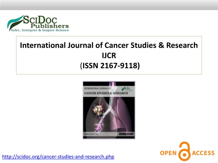 International Journal of Cancer Studies & Research