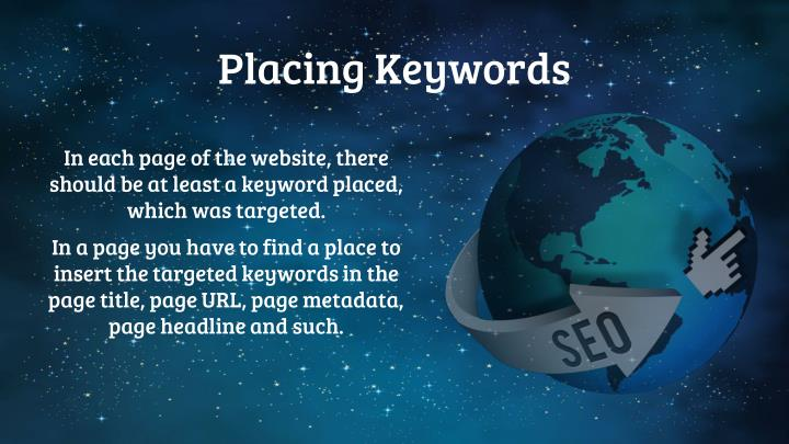 Placing Keywords
