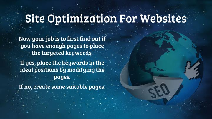 Site Optimization For Websites