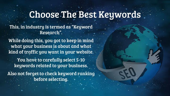 Choose The Best Keywords