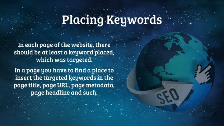 Placing Keywords
