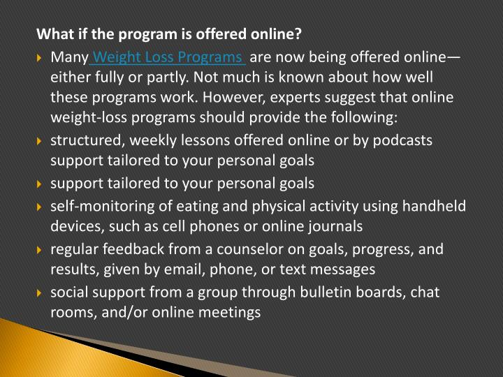 What if the program is offered online?