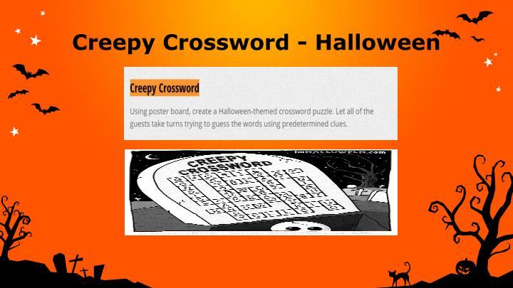 Creepy Crossword - Halloween