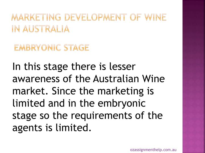 Marketing Development of Wine in Australia