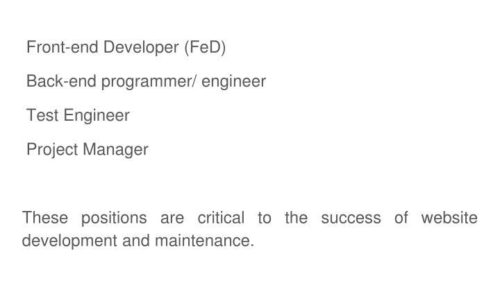 Front-end Developer (FeD)